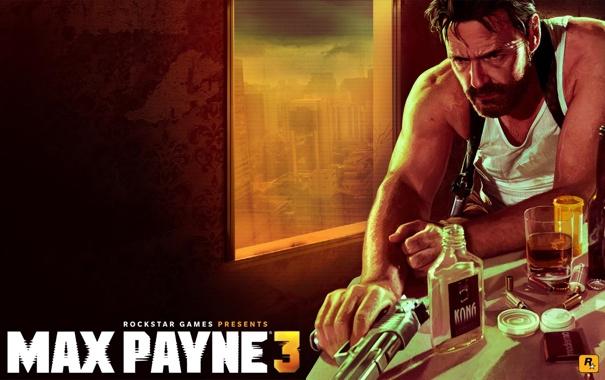 Фото обои Payne, Max, Дезерт Игл, Rockstar Games, KONG, Max Payne 3