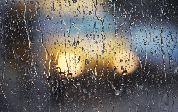 Фото обои стекло, вода, капли, дождь, ливень, потоки