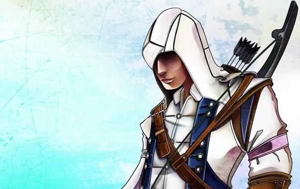Фото обои арт, коннор кенуэй, assassins creed, ассасин