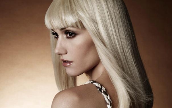 Фото обои взгляд, лицо, блондинка, профиль, певица, плечо, карие глаза
