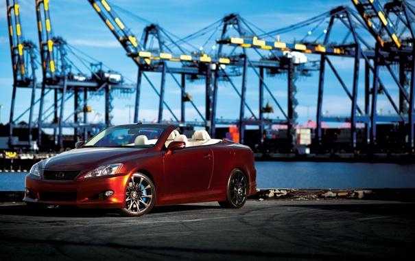 Фото обои причал, IS 350C, лексус, Lexus