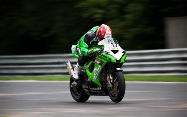 Фото обои мотоцикл, Kawasaki, спортбайк, Ninja