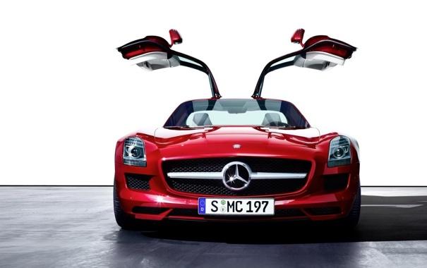 Фото обои car, машина, авто, Mercedes-Benz, SLS AMG Gullwing