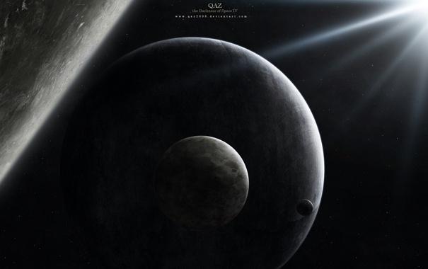 Фото обои планеты, луны, спутники