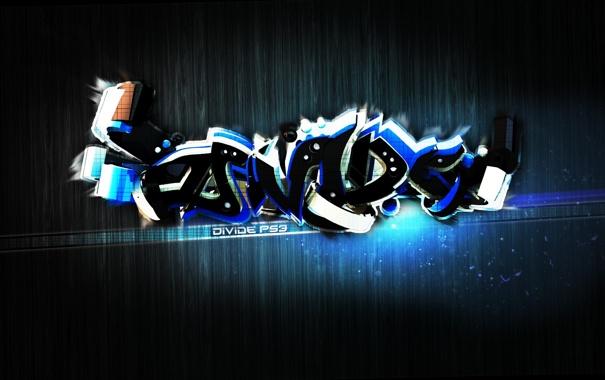 Фото обои синий, стиль, PS3, Графити