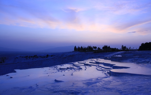 Фото обои небо, горы, природа, обои, лёд, замёрзший водопад