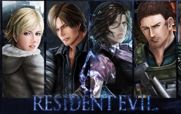 Фото обои biohazard, art, персонажи, Обитель зла, Resident Evil 6, Leon Scott Kennedy, Helena Harper