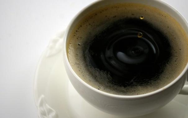 Фото обои капли, кофе, рябь, чашка