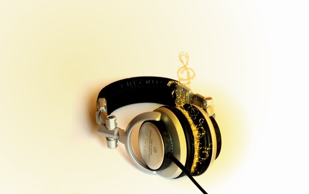 Фото обои Fire, Music, Headphone