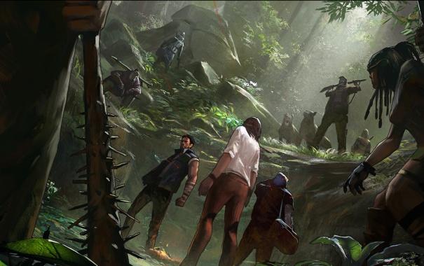 Фото обои лес, засада, ловушка, охотник
