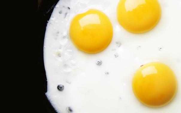 Фото обои завтрак, яичница, глазунья, жареное, белки, желтки