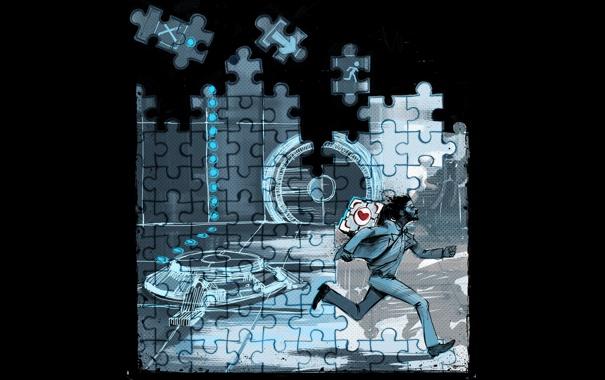 Фото обои Cube, Portal 2, Doctor, Puzzles