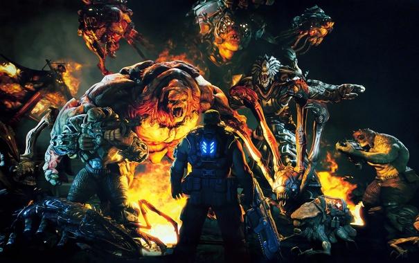 Фото обои Gears of War 3, xbox 360, epic games, за секунду до