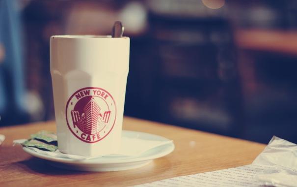 Фото обои стол, фон, обои, чай, настроения, тарелка, ложка