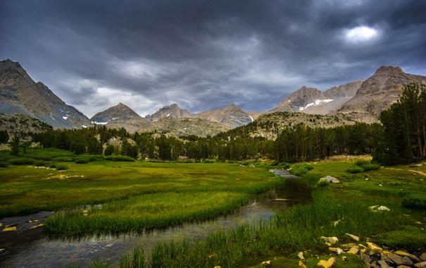 Фото обои горы, природа, озеро, California, Inyo National Forest, Chicken Foot Lake