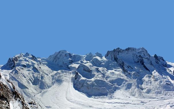 Фото обои снег, горы, гора