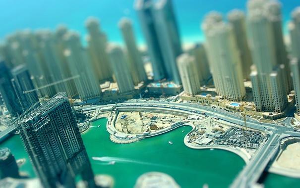 Фото обои машины, фото, стройка, здания, катера, Dubai