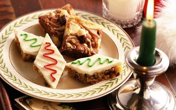 Фото обои свеча, молоко, печенье, тарелка