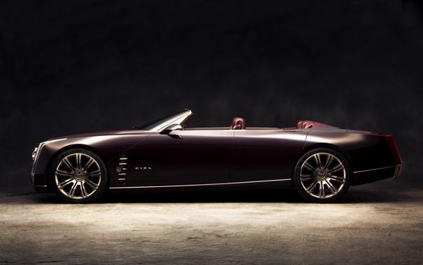 Фото обои Cadillac, concept, концепт, ciel, кабриолет сбоку