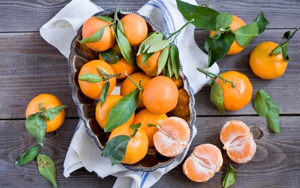 Фото обои плоды, цитрусы, мандарины
