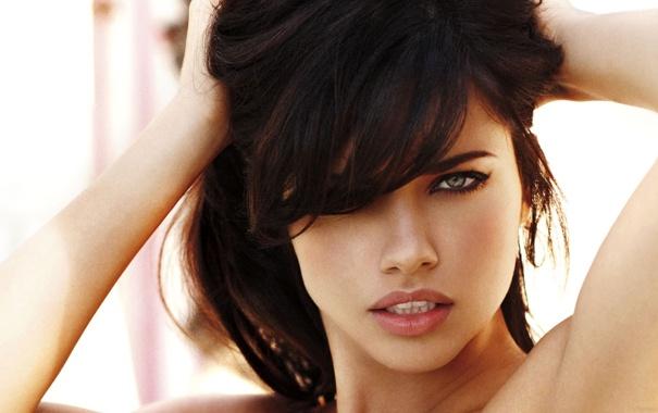 Фото обои взгляд, фото, брюнетка, Adriana Lima, models