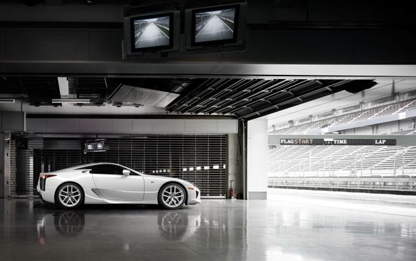 Фото обои lexus, hangar, lfa