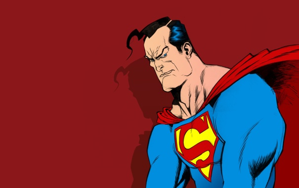 Фото обои superman, супермен, супергерой