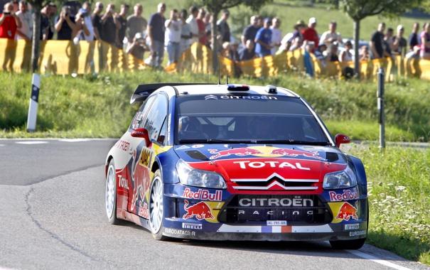 Фото обои Авто, Люди, Ситроен, Citroen, Rally, Sebastien Loeb, Передок