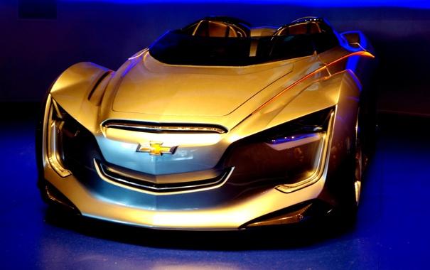 Фото обои фары, спорткар, экспрессивный аэродинамичный дизайн кузова, roadster concept, Chevrolet Miray