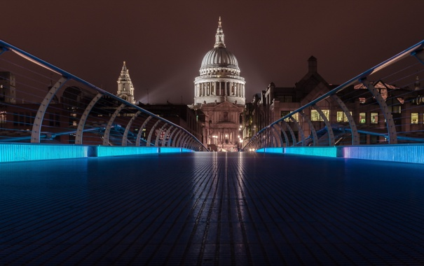 Фото обои London, England, St Pauls from the bridge