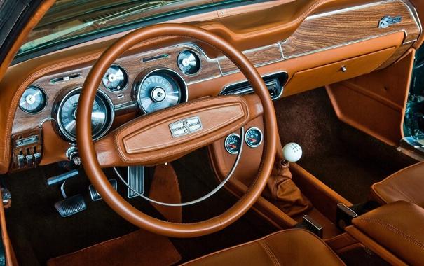 Фото обои Shelby, GT500, 1968, Convertible, Торпедо