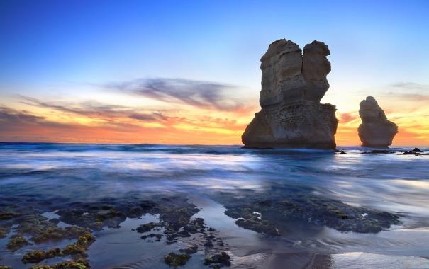 Фото обои море, пейзаж, скалы