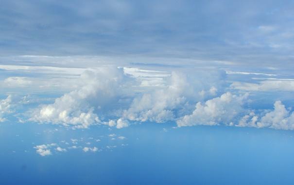 Фото обои облака, голубой, небо