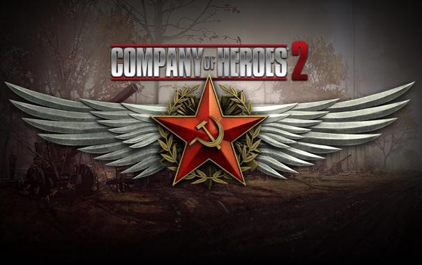 Фото обои Russia, Wallpaper, Game, Company of Heroes 2, WW2, RTS, Strategy