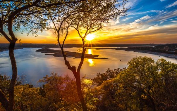 Фото обои природа, река, The Oasis