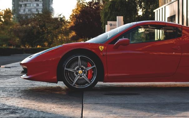 Фото обои Front, 458, Ferrari, Spyder