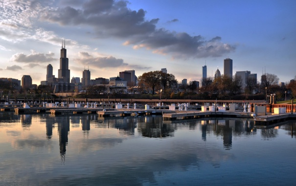 Фото обои United States, Chicago, Illinois, South Loop