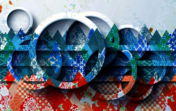 Фото обои узор, цвет, кольцо, объем