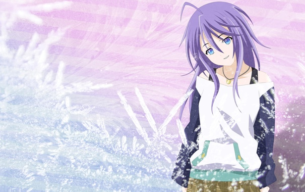 Фото обои улыбка, аниме, девочка