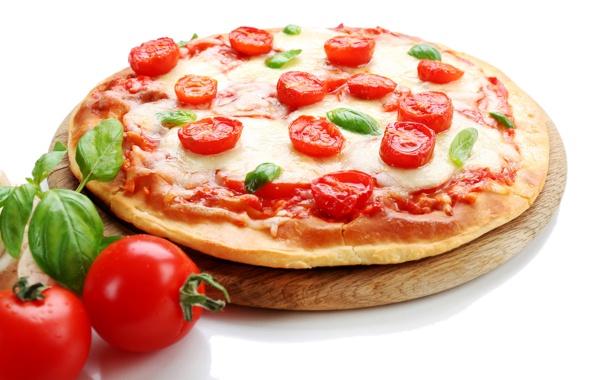 Фото обои сыр, пицца, помидоры, food, pizza, cheese, tomato