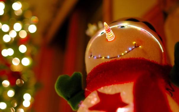 Фото обои snowman, Christmas Tree, decoration