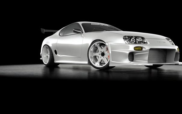 Фото обои turbo, White, Supra