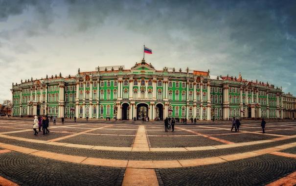 Фото обои площадь, Russia, питер, санкт-петербург, эрмитаж, St. Petersburg