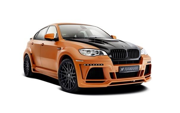 Фото обои бмв, BMW, белый фон, Hamann, X6M, кроссовер