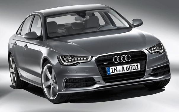 Фото обои Audi, Авто, Ауди, Машина, Решетка, Капот, Фары