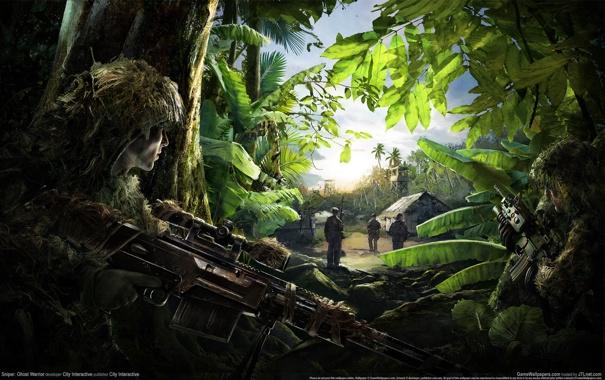 Фото обои Оружие, Снайпер, Засада, Sniper Ghost Warrior