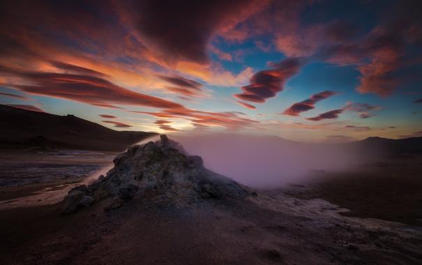 Фото обои небо, пейзаж, ночь