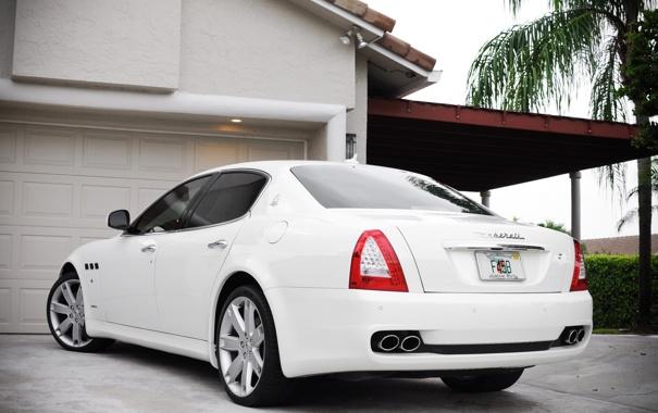 Фото обои Maserati, white, cars, auto, wallpapers, wallpapers auto, обои авто