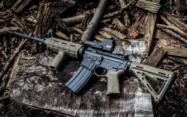 Фото обои фон, винтовка, штурмовая, полуавтоматическая