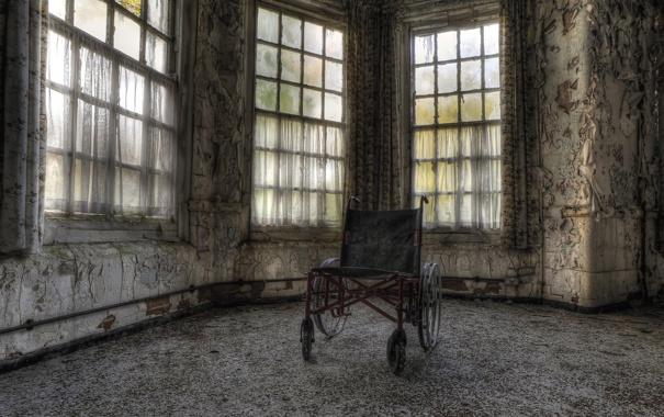 Фото обои фон, комната, коляска